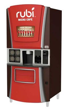 Rubi coffee vending machine - kiosk business acquired from Outerwall by Feniks Inc. Coffee Vending Machines, Kiosk, Kitchen Appliances, How To Plan, Business, Articles, Retail, Wall, Viajes