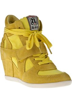 New Ash Shoes Bowie Wedge Sneakers in Lemon Size 37 38 39 40 | eBay