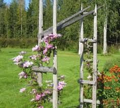 Pergola For Small Patio Garden Arbor, Garden Fencing, Cheap Pergola, Diy Pergola, Green Garden, Tropical Garden, Garden Structures, Outdoor Structures, Pergola Decorations
