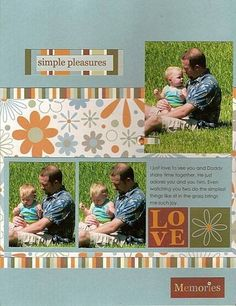 Cool Ideas for Scrapbook Pages Love | baby boy scrapbook page ideas | Baby Scrapbook Pages – Daddy and ...