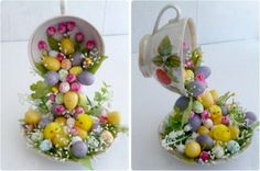 65+ unique Easter crafts ideas. Easter craft projects for kids and adults to make. Easter arts and crafts with bunnies, eggs, chicks and carrots. Make baskets, garlands, wreaths, trees, treat bags and
