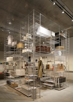"""""""…Tokyo architect Fumihiko Sano used Japanese design brand Muji's popular steel shelving system to create this room-like installation for an exhibition exploring standard units of measurement…"""" Fumihiko Sano installation with MUJ Shelving Design, Display Design, Booth Design, Store Design, Shelving Units, Loft Industrial, Exhibition Room, Diy Regal, Steel Shelving"""