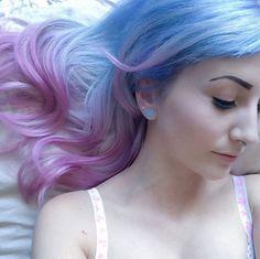 Color Block Hair in Pastell - Bilder