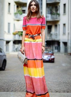 This is how to wear orange.
