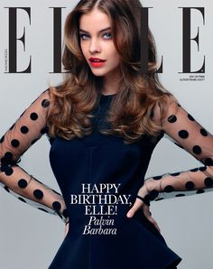 Barbara Palvin on the cover of Elle Hungary, October 2011. Photo by Zoltan Tombor.