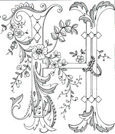 Vintage Embroidery Designs Great link for free alphabet embroidery patterns. All letters available. Perfect for napkins, place mats, runners, etc. Embroidery Stitches, Machine Embroidery, Embroidery Designs, Embroidery Alphabet, Embroidery Monogram, Paper Embroidery, Vintage Embroidery Patterns, Hungarian Embroidery, Flower Embroidery