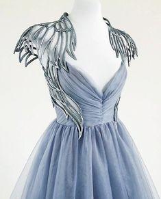 Pretty Outfits, Pretty Dresses, Beautiful Dresses, Fantasy Gowns, Fantasy Outfits, Fantasy Clothes, Mode Inspiration, Design Inspiration, Costume Design