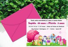 Convite My Little Pony - (convite+envelope)   * Tamanho: 10 cm (L) x 07 cm (A) - R$ 1,40  * Tamanho: 15 cm (L) x 10 cm (A) - R$ 2,80  * Arte Digital - 16,00   Lindo convite personalizado para o seu evento!   Pedido mínimo: 10 unidades