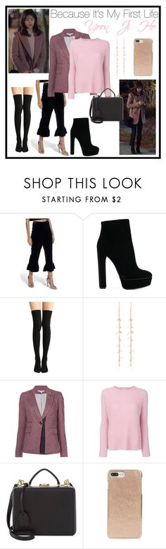 """""""K-Drama: Because It's My First Life #3"""" by lora-86 on Polyvore featuring Missguided, Casadei, Kismet by Milka, Veronica Beard, BRUNO MANETTI, Mark Cross and Kate Spade"""
