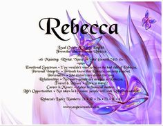 Angies Creation: Search results for rebecca