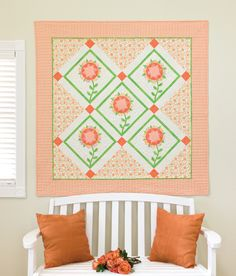 GO! Harrison Rose Wall Hanging Pattern http://www.accuquilt.com/new/go-harrison-rose-wall-hanging.html