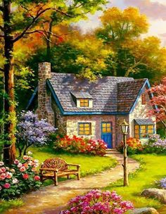 Gardens Discover New landscape house painting beautiful Ideas Beautiful Paintings Beautiful Landscapes Landscape Art Landscape Paintings Kinkade Paintings Beautiful Pictures Beautiful Places Acrylic Painting Tips Scenery Paintings Beautiful Nature Wallpaper, Beautiful Paintings, Beautiful Landscapes, Landscape Art, Landscape Paintings, Abstract Paintings, Art Paintings, Kinkade Paintings, Cottage Art