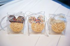 Mickey Mouse Rice Krispie Treat favors to surprise and delight your wedding guests! Wedding Favor Sayings, Disney Wedding Favors, Unique Wedding Favors, Wedding Wishes, Disney Weddings, Wedding Invitations, Wedding Gifts, Disney Wedding Shower Ideas, Disneyworld Wedding
