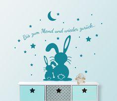 """Wandtattoo - Wandtattoo Hasen """" bis zum Mond und wieder zurück"""" - ein Designerstück von jamsstyle bei DaWanda"""
