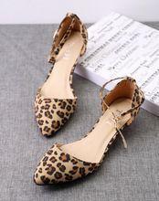 Breves mujeres de terciopelo cerrojo zapatos de tacón bajo para mujer leopard print shallow boca punta estrecha moda pequeños solos zapatos zapatos de mujer(China (Mainland))