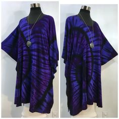by qualicumclothworks on Etsy Purple Fabric, Caftans, Deep Purple, Cotton Spandex, Lilac, Bamboo, Overalls, Tie Dye, Kimono Top