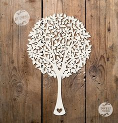 SVG / PDF Plain Round Tree - Papercutting Template to print and cut yourself (Commercial Use)