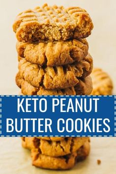 How to make low carb peanut butter cookies, homemade from scratch. 3 ingredients / almond flour / easy / no bake / keto / sugar free / best / flourless / swerve / chewy / protein / fat bombs / soft / food / dreams / dessert recipes / treats / holidays / p Keto Cookies, Almond Flour Cookies, Keto Peanut Butter Cookies, Low Carb Peanut Butter, Low Carb Peanutbutter Cookies, No Sugar Cookies, Almond Butter Fat Bombs, Diabetic Cookies, Keto Chocolate Chip Cookies