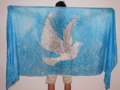 Worship Dance Silk dove, Worship Jesus, Prophetic Dance, Holy Goast, Anbetungstanzen, Taube, Heiliger Geist, Banner Worship Dance, Flags, Banners, Tapestry, Decor, Holy Spirit, Pigeon, Ghosts, Hanging Tapestry