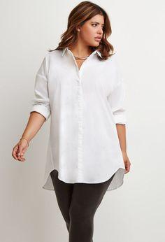 Moda para gorditas primavera-verano 2015 camisa oversize forever 21