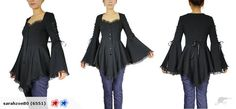 Stunning Corset Black Flare Sleeve Top | Trade Me