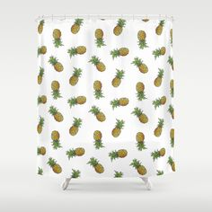 pineapple shower curtain and duvet Shower Curtain