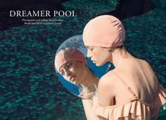 Dreamer Pool is an editorial fashion photo series centred around poolside glamour styled and photographed by Elena Iv-skaya.