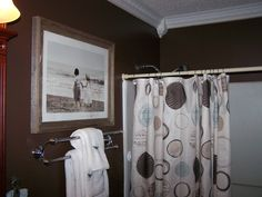 paint the bathroom brown