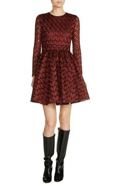 Designer Clothes, Shoes & Bags for Women Fit N Flare Dress, Fit And Flare, Frilly Dresses, Holiday Party Dresses, Jacquard Dress, Going Out Dresses, Nordstrom Dresses, Dresses Online