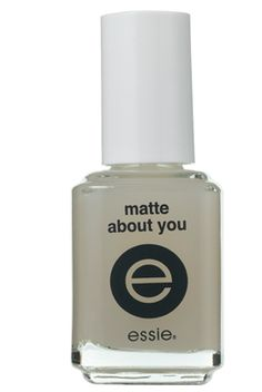 essie 'matte about you' matte topcoat. turns any polish matte!