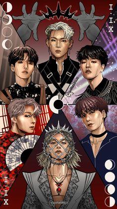 Kpop Drawings, Art Drawings Sketches Simple, K Pop, Kim Young, Fandom Kpop, All About Kpop, Fans Cafe, Kpop Guys, Kpop Fanart
