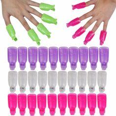 5Pc/set emover Gel Polish Nail Art Soakers UV Nail Degreaser Polish Wrap Tool Nails Remover Plastic Soak Off Cap butterfly  Clip
