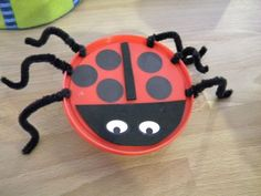 Ladybug craft and finger play. This could also be extended into an addition or symmetry lesson.