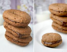 Home made Choc-Kit Cookies - heaven (Homemade Chocolate Home Made) Biscuit Bar, Biscuit Cookies, Biscuit Recipe, No Bake Cookies, Sandwich Cookies, South African Dishes, South African Recipes, Coffee Biscuits, Cookie Press