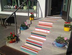 #Ullakkopuoti new entrance: painted rag rug