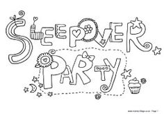 spa party coloring pages - photo#18