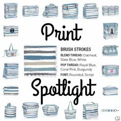 Great print for beach bags in all sorts of styles!! I am an independent consultant