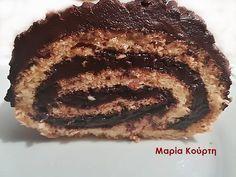 Μερεντο-Ρολό με στεβια Greek Desserts, Healthy Desserts, Almond Cakes, Stevia, Pork, Sweet, Cookies, Health Desserts, Kale Stir Fry