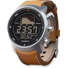 Suunto Elementum Ventus Black Multifunction Sailing Watch - Leather