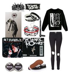 """""""We'll put on a Black Parade to celebrate our sweet revenge"""" by justanotherpunkfashionist ❤ liked on Polyvore"""