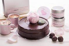 freshly baked dark chocolate cake at BetterChocolatethannever