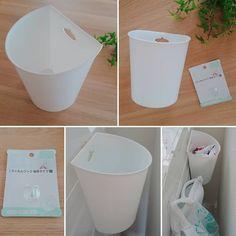 """@minalabel1234 on Instagram: """"セリアで買ったゴミ箱とフィルムフック! . . 洗濯ネットの出し入れが面倒で 洗濯機の横に設置してみました . . とっても便利で今までの無駄な動きがなくなりました😂すこしガタガタしますが(笑) . . . . . .…"""""""