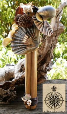 Hand Crafted Shaman's Rattle  Blackhearted by AustralisIncognita, $75.00