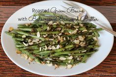 Roasted Green Beans with Balsamic-Browned Butter from Two Healthy Kitchens - Wondering what to make for Thanksgiving? Here's the answer! Quick, easy and so delicious they'll be licking the plates!