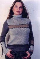 KK151 Sweater w/ Leather Embroidery Leather Embroidery, Yarn Store, Knitwear, Knitting Patterns, Turtle Neck, Sweaters, Design, Fashion, Moda