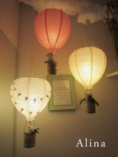 Hot air balloon lamps