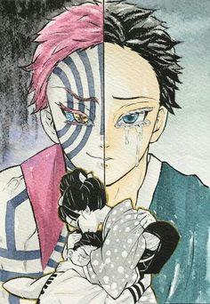 Sad Anime, Anime Demon, Manga Anime, Anime Art, Demon Slayer, Slayer Anime, Akira, Sad Drawings, Anime Drawing Styles