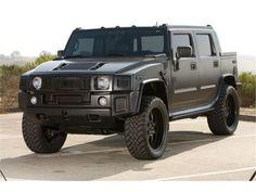 Matte black Hummer H2
