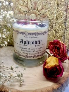 Aphrodite Goddess of Love and Beauty Candle~witchcraft candle, witch oil, greek goddess, Freyja, Hecate, Moon Goddess Oil Magick, gypsy