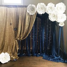 White Two Layer Wedding Backdrop Curtain Backdrop With Swag Wedding St. White Two Layer Wedding Backdrop Curtain Backdrop With Swag Wedding Stage Backdrop Drape Party Decoration Supp. Quince Decorations, Quinceanera Decorations, Quinceanera Party, Wedding Decorations, Wedding Ideas, Hall Decorations, Quinceanera Dresses, Navy Blue And Gold Wedding, Cobalt Blue Weddings